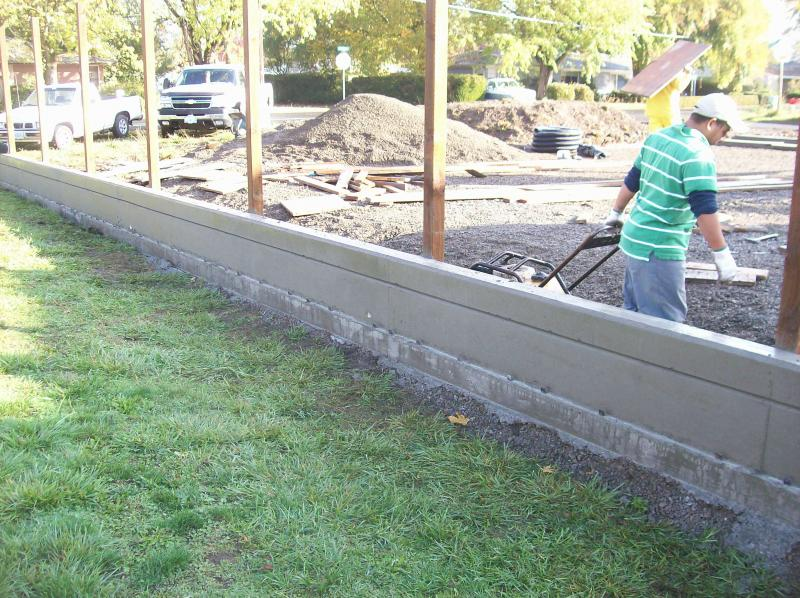 foundation retaining wall eugene oregon with decorative chamfer strip premier