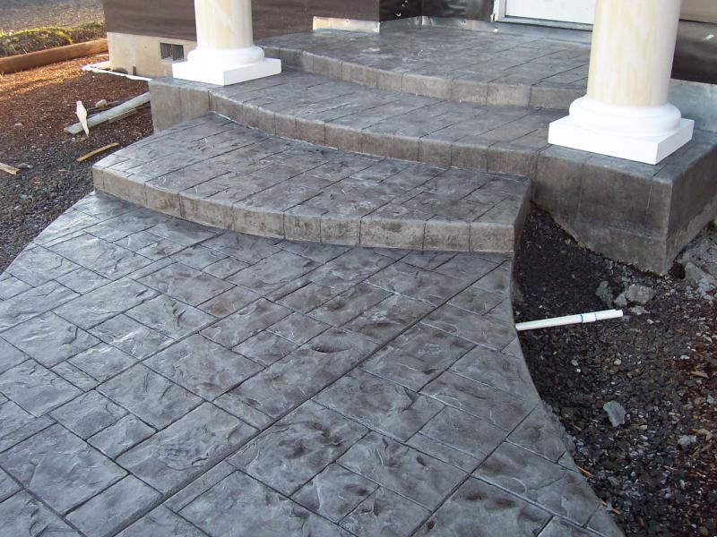 ashlar slate radius steps junction city oregon premier concrete charcoal release
