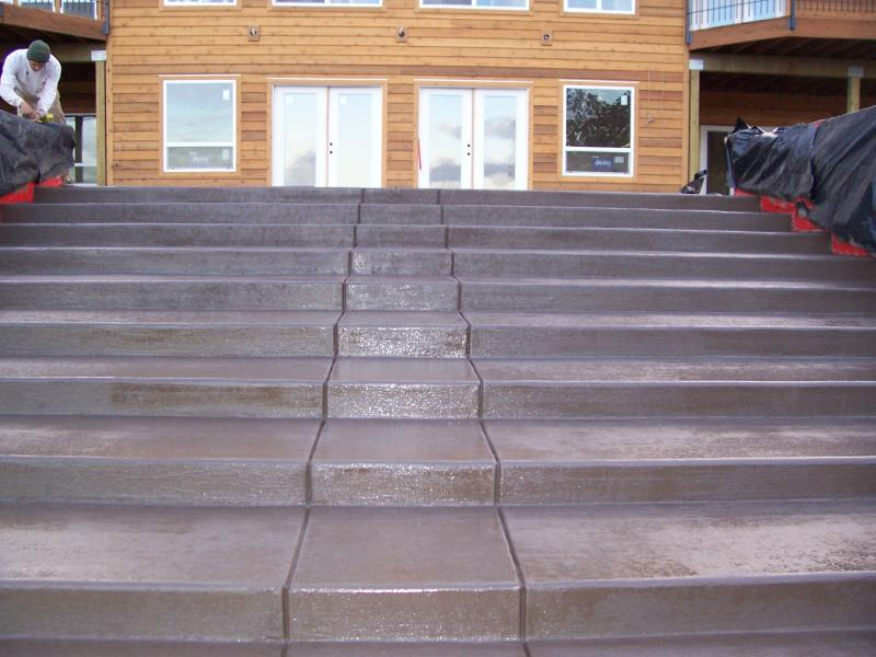 westwood brown colored concrete broom finish stairs decorative eugene oregon ste