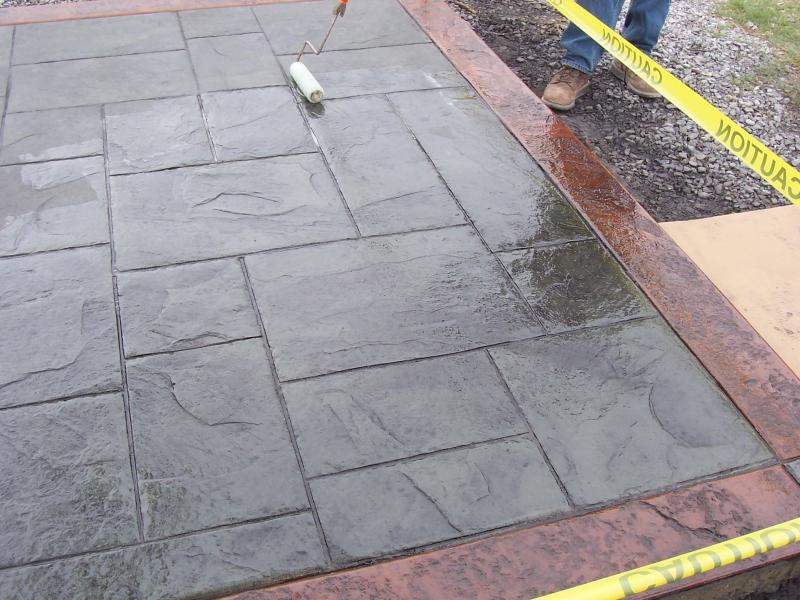 Overlay Stamped Concrete