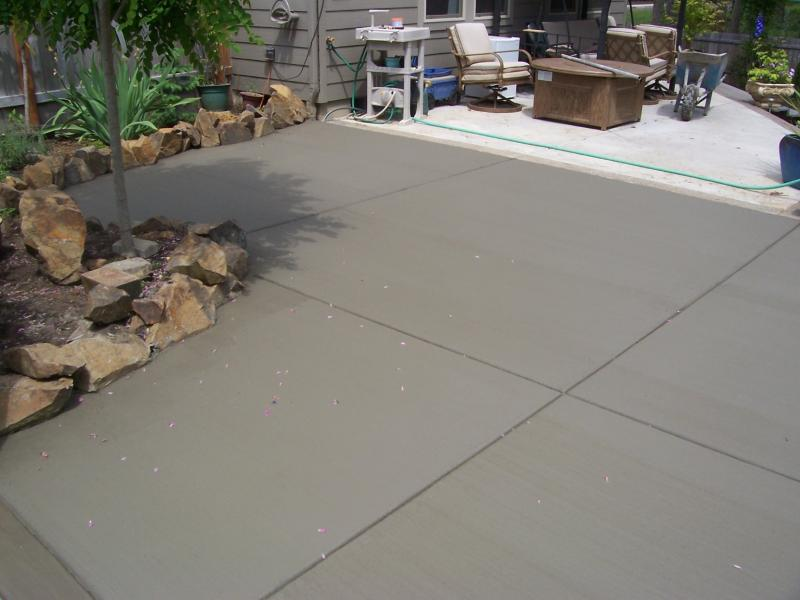 broom finish patio addition veneta oregon premier concrete with expose border